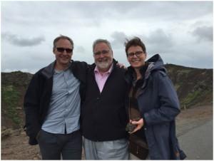 Die Berliner Teilnehmer mit Prof. Nikolaus Lang (Mitte), Dr. MSc. Derk Siebers (re) und Dr. Carla Noppe (li)