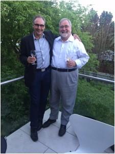 Der Autor mit seinem Lehrer Prof. Nikolaus Lang
